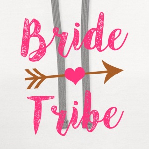Bride Tribe Bridesmaid women's shirt - Contrast Hoodie