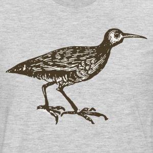 Black oyster swallower bird drawing T-Shirts - Men's Premium Long Sleeve T-Shirt