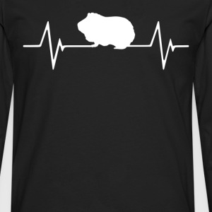 Guinea Pig  Heartbeat Love T-Shirt T-Shirts - Men's Premium Long Sleeve T-Shirt
