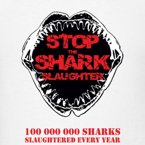 Stop The Shark Slaughter Buttons - Men's T-Shirt