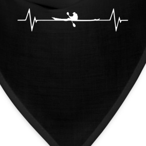 Kayaking  Heartbeat Love T-Shirt T-Shirts - Bandana