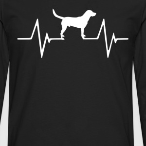 Labrador Retriever  Heartbeat Love T-Shirt T-Shirts - Men's Premium Long Sleeve T-Shirt