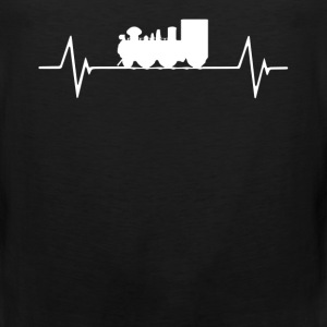 Model Railroad  Heartbeat Love T-Shirt T-Shirts - Men's Premium Tank
