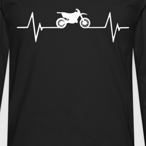 Motocross  Heartbeat Love T-Shirt T-Shirts - Men's Premium Long Sleeve T-Shirt