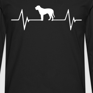 Rottweiler  Heartbeat Love T-Shirt T-Shirts - Men's Premium Long Sleeve T-Shirt