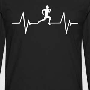 Running  Heartbeat Love T-Shirt T-Shirts - Men's Premium Long Sleeve T-Shirt