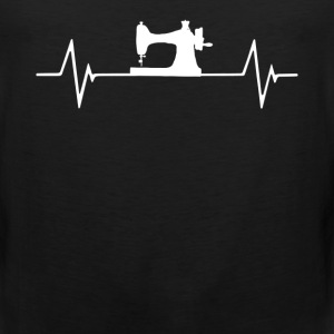 Sewing Machine Qulting Se  Heartbeat Love T-Shirt T-Shirts - Men's Premium Tank