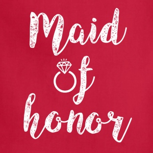 Maid of Honor women's shirt - Adjustable Apron