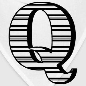 Personalized Q Initial Mugs & Drinkware - Bandana