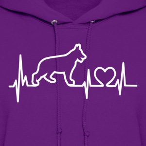 My Heart Beats German Shepherd - for darks T-Shirts - Women's Hoodie