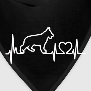 My Heart Beats German Shepherd - for darks T-Shirts - Bandana