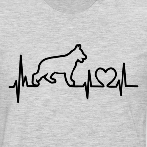 My Heart Beats German Shepherd - for lights Women's T-Shirts - Men's Premium Long Sleeve T-Shirt