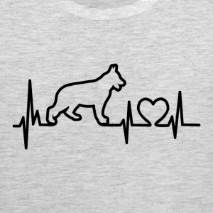 My Heart Beats German Shepherd - for lights Women's T-Shirts - Men's Premium Tank