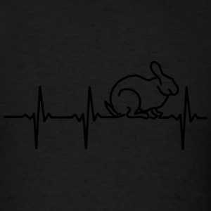MY HEART BEATS FOR RABBITS! Hoodies - Men's T-Shirt