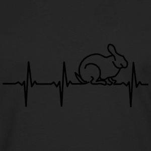 MY HEART BEATS FOR RABBITS! Hoodies - Men's Premium Long Sleeve T-Shirt