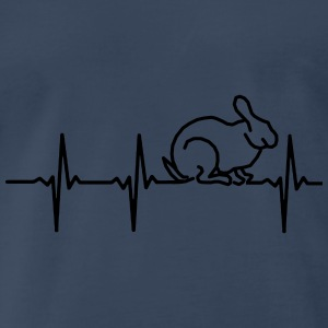MY HEART BEATS FOR RABBITS! Tanks - Men's Premium T-Shirt