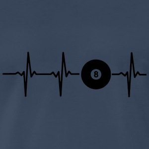 MY HEART BEATS FOR POOL BILLIARD Sportswear - Men's Premium T-Shirt