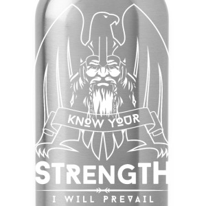 Viking Strength White T-Shirts - Water Bottle