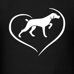 Vizsla Heart Shirt - Men's T-Shirt
