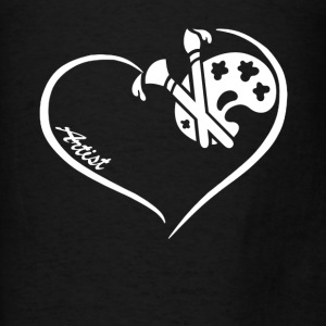 Artist Heart Shirt - Men's T-Shirt