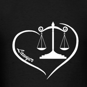 Lawyer Heart Shirt - Men's T-Shirt