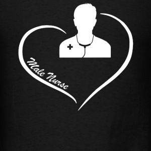 Male Nurse Heart Shirt - Men's T-Shirt
