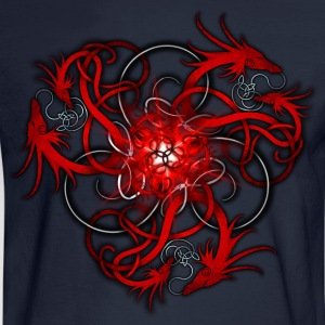 Norse Triple Red Dragons - Men's Long Sleeve T-Shirt