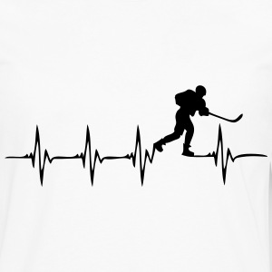 Heartbeat Ice Hockey 2 - Men's Premium Long Sleeve T-Shirt