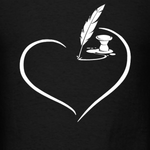 Writer Heart Shirt - Men's T-Shirt