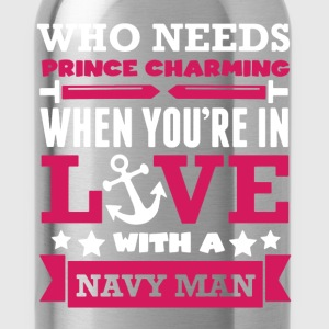 Prince Charming Navy - Water Bottle