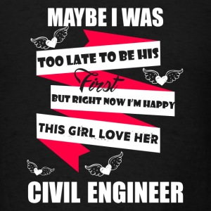 Girl Loves Civil Engineer - Men's T-Shirt