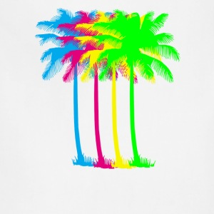 neon_palm_tree_tropical_summer_bright_co - Adjustable Apron