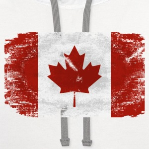 Maple Leaf- Canadian Flag T-Shirts - Contrast Hoodie