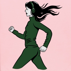 walking jogging female sport T-Shirts - Kids' Hoodie