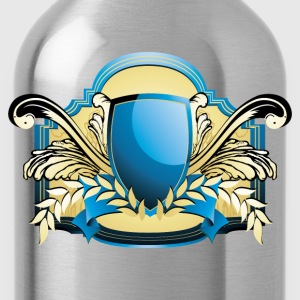 Blue European shield pattern T-Shirts - Water Bottle