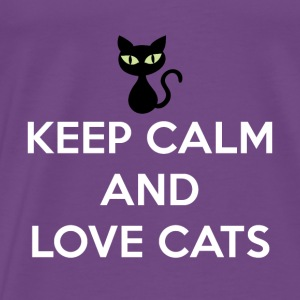 Keep Calm and Love Cats Tanks - Men's Premium T-Shirt