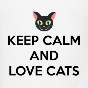Keep Calm and Love Cats Tanks - Men's T-Shirt