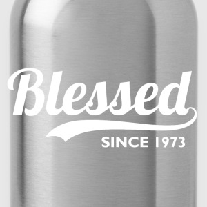 Blessed since 1973 - 43rd Birthday Thanksgiving  - Water Bottle