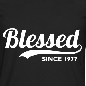 Blessed Since 1977 - Birthday Thanksgiving  - Men's Premium Long Sleeve T-Shirt