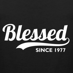 Blessed Since 1977 - Birthday Thanksgiving  - Men's Premium Tank