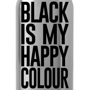 BLACK IS MY HAPPY COLOUR - Water Bottle