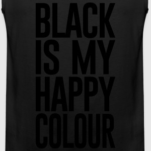 BLACK IS MY HAPPY COLOUR - Men's Premium Tank