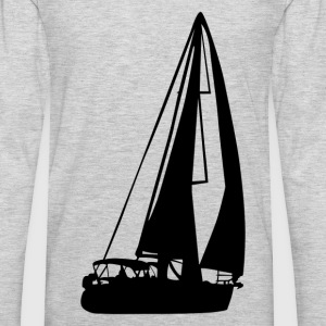 Sailboat silhouette art T-Shirts - Men's Premium Long Sleeve T-Shirt
