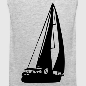 Sailboat silhouette art T-Shirts - Men's Premium Tank