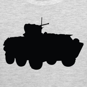 missile truck Military silhouette T-Shirts - Men's Premium Tank