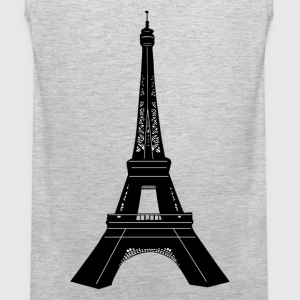 World famous Eiffel tower building silhouette T-Shirts - Men's Premium Tank
