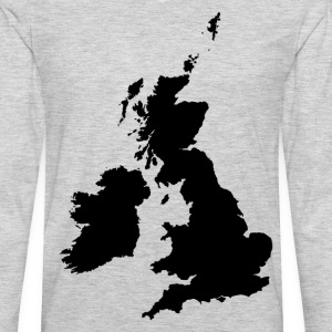 England map silhouette T-Shirts - Men's Premium Long Sleeve T-Shirt