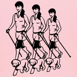nordic walking women dog T-Shirts - Kids' Hoodie