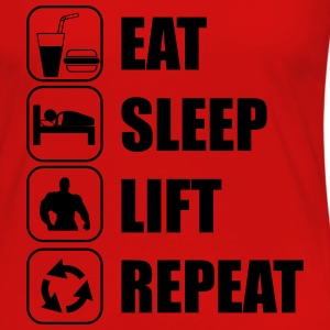 Eat Sleep Lift Repeat T-Shirts - Women's Premium Long Sleeve T-Shirt
