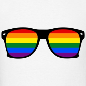 Glasses Rainbow Gay Tanks - Men's T-Shirt